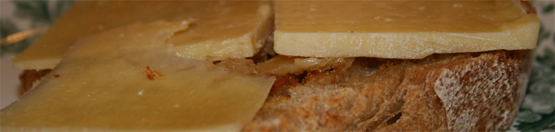 Dubliner Cheese sandwich with Duck Fat and Roasted Garlic