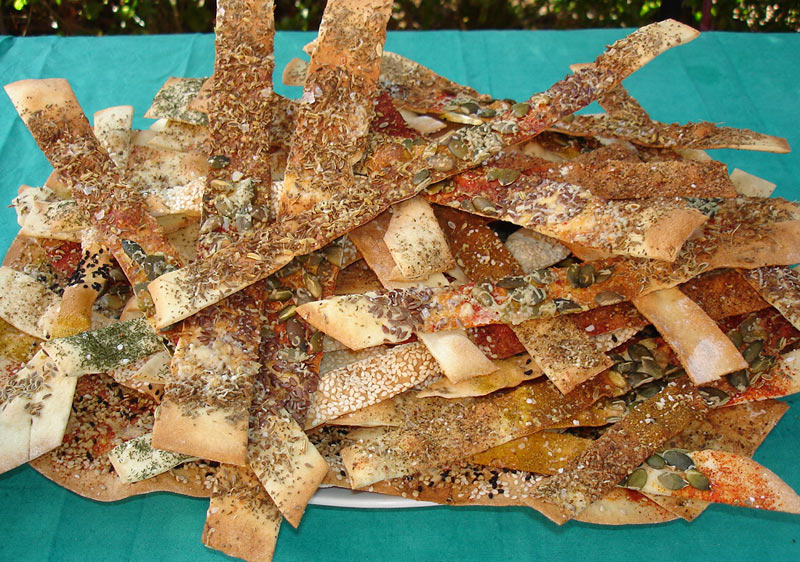 Lavash Crackers with Spices and Seeds