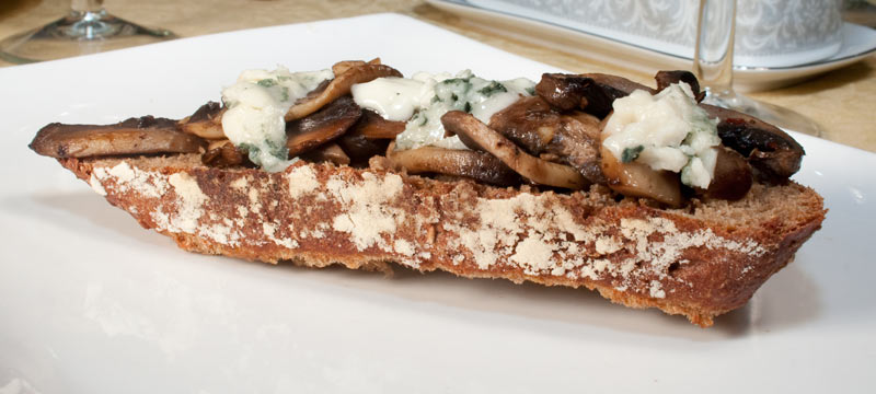 Mushroom and Roquefort Sandwich on Lingonberry Bread