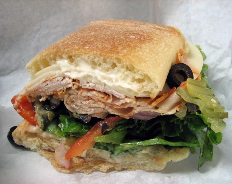 Ralphs Sandwich Review: Sausalito Turkey, Veggies, on Toasted Ciabatta, Sweet Honey Mustard, Horseradish Mayo, Mayo, Roasted Red Pepper