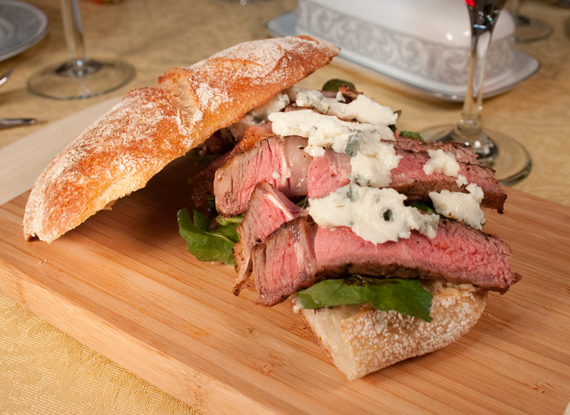 Steak Sandwich with Blue Cheese, Roasted Garlic Mayonnaise and ...
