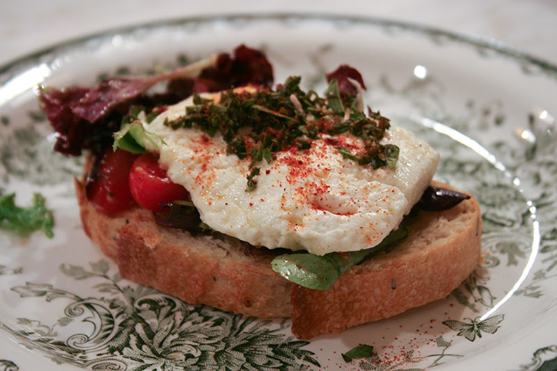 Greek Oven Roasted Feta Sandwich