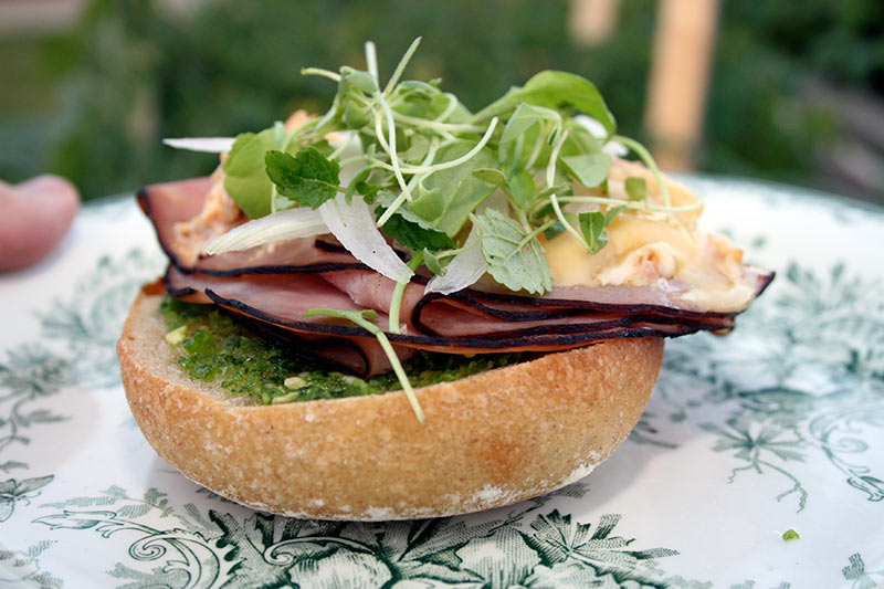 Sandwich Roll With Black Forest Ham, Calvados Brie and Micro-Greens