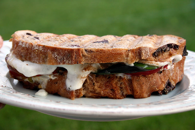 Four Tomato Caprese Panini With Buffalo Mozzarella