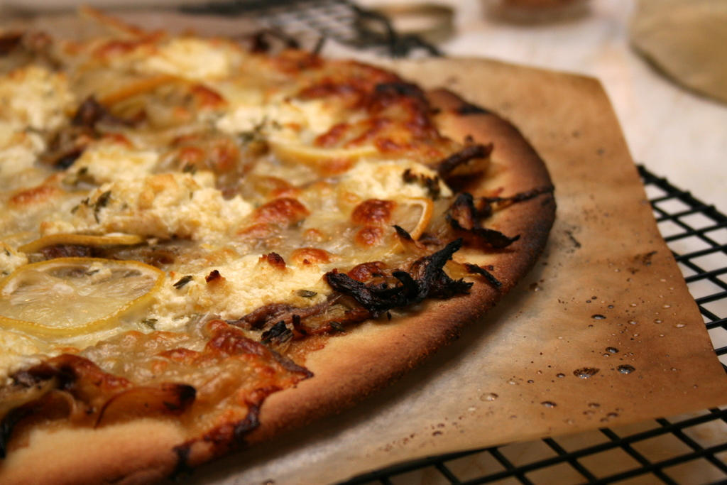 Anchovy Pizza With Fluffy Goat Cheese 'La Lemon ...