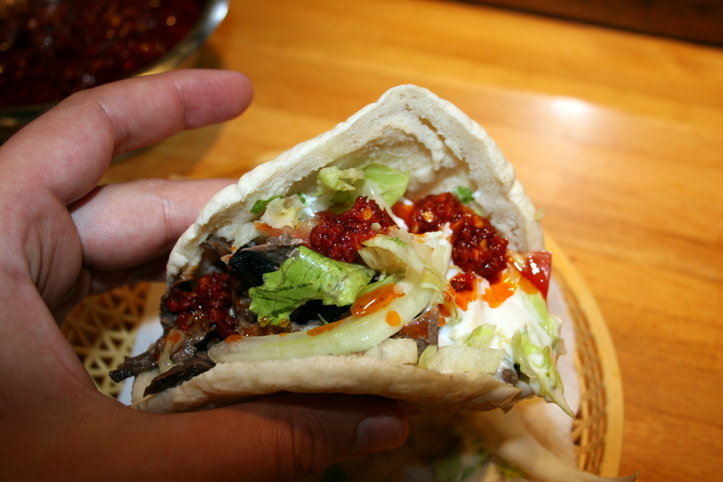 Kafta pita from Shawarma Grill House