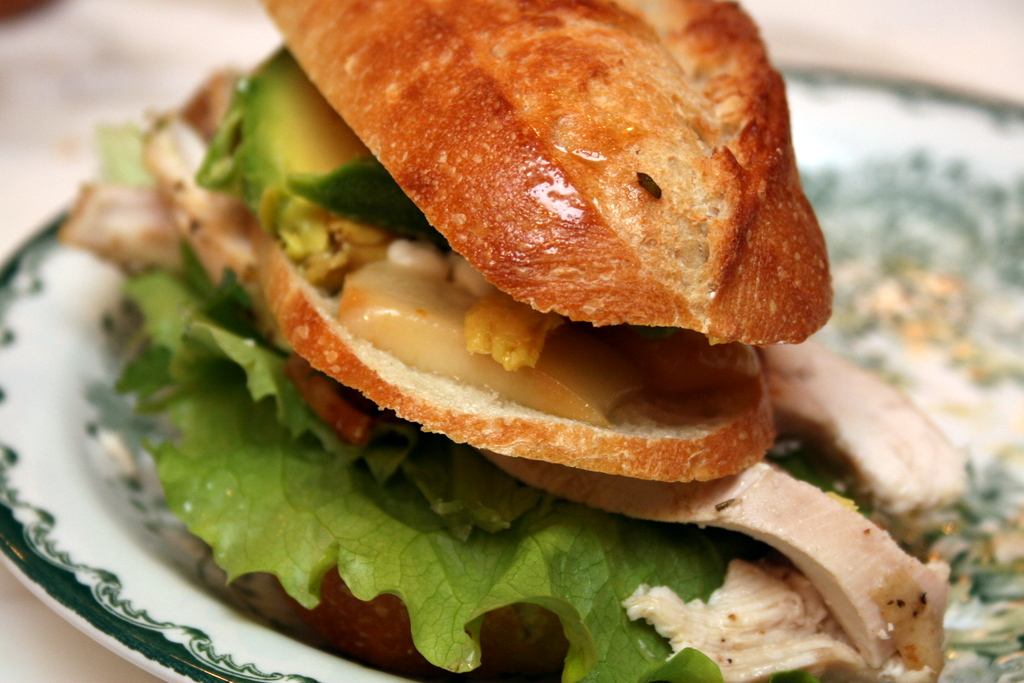 Tripple-Decker Chicken Avocado Sandwich