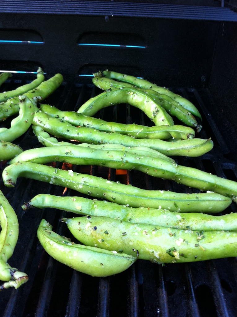 Fava beans on the grill