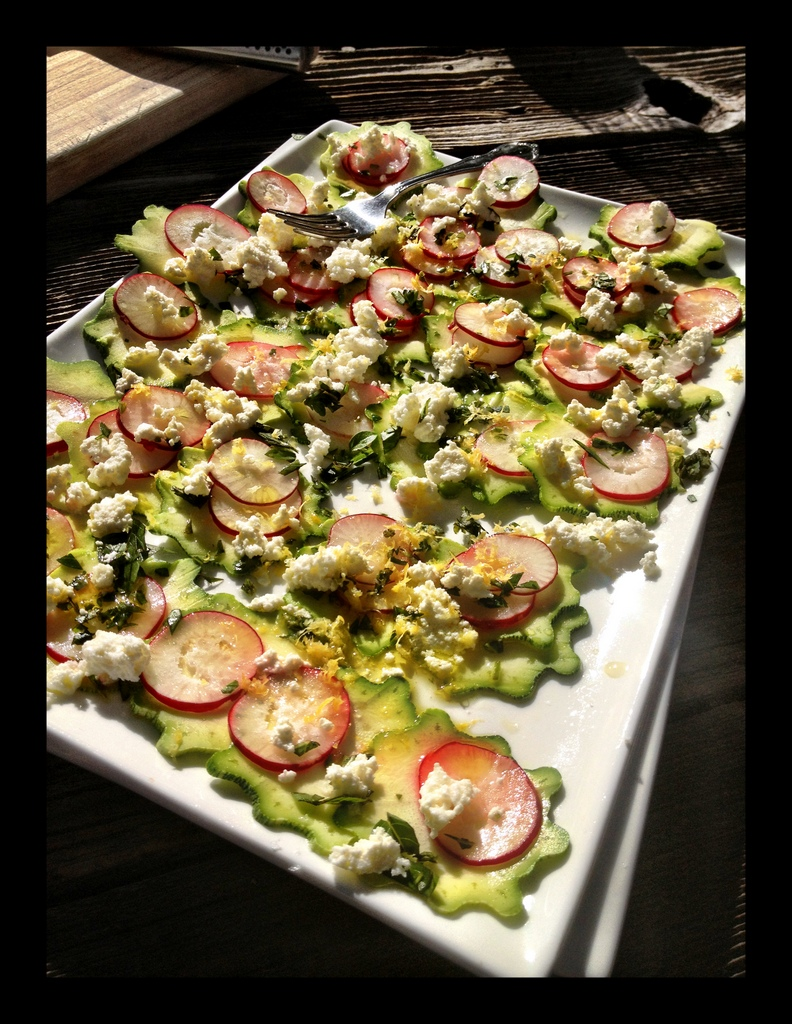 Zucchini Carpaccio Salad With Parmesan, Basil, And Walnuts Recipe ...