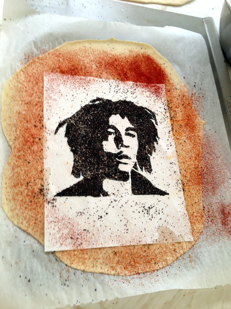Bob Marley on a Cracker