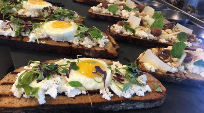 Goat Cheese with Egg Sandwich @PublicUs